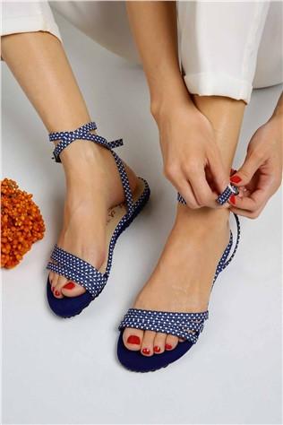 Bayan 3 Biyeli Sandalet  - 7009 SAX PUANLI  #297350