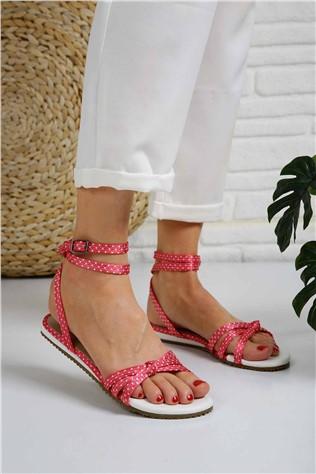 Bayan 3 Biyeli Sandalet - 7007 FUJE PUANLI  #297338