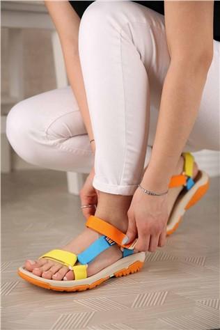 Kadın Cırtlı Sandalet MULTİ  #302226