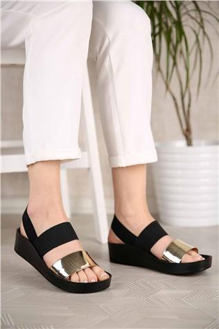 Kadın Lastikli Sandalet ALTIN AYNA  #299941
