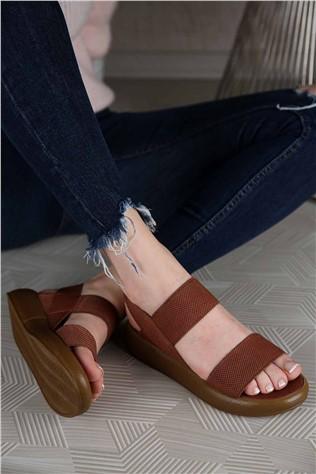 Kadın Lastikli Sandalet TABA  #299331