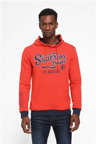 Men's  hoodie 64008 - Orange 987790 #266769